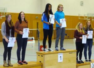 Platz zwei im Doppel: Verena Müller (1. v. li.) und Katharina Winkler (2. v. li.).
